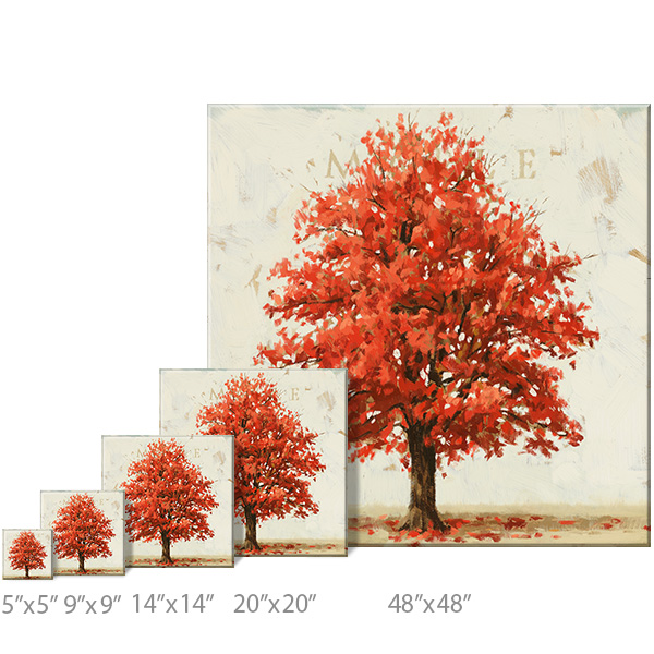 maple tree canvas art print