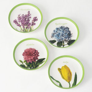 flowers snack plate set