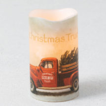 Christmas truck candle