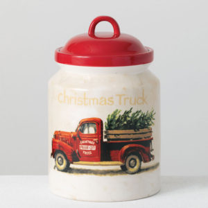 Christmas truck canister