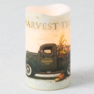 harvest truck candle