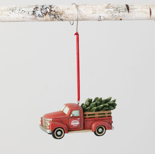 vintage red truck Christmas ornament