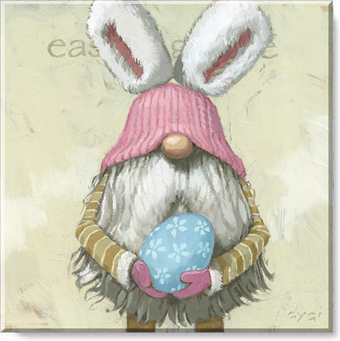 Easter gnome canvas print
