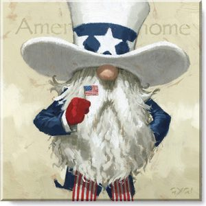 Uncle Sam gnome canvas print
