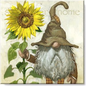 sunflower gnome canvas print