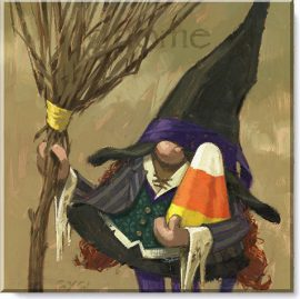 witch gnome canvas print